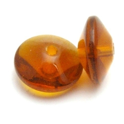 Glaskraal, disc, bruin, 12 x 14 mm (10 st.)