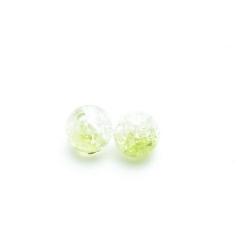 Crackle kraal, rond, lichtgroen, 10 mm (20 st.)