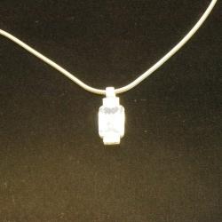 Ketting, Sterling zilver met hanger (1 st.)