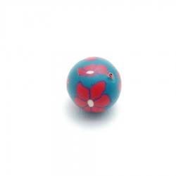 Fimokraal, groen/rood (5 st.)