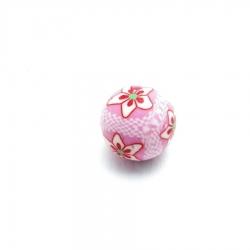 Fimokraal, roze, bloemetje (5 st.)