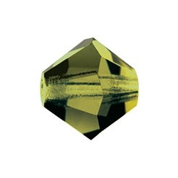 MC Bead, Rondell / Bicone, Olivine, 4 mm