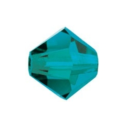 MC Bead, Rondell / Bicone, Blue Zircon, 4 mm