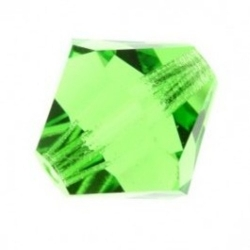 MC Bead, Rondell / Bicone, Peridot, 6 mm