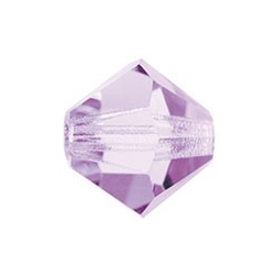 MC Bead, Rondell / Bicone, Violet, 6 mm