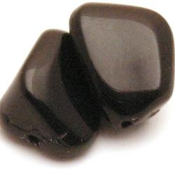Glaskraal, brok, zwart, 20 x 16 mm (5 st.)