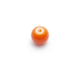 Glaskraal, rond, oranje, 8 mm (25 st.)