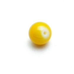 Glaskraal, rond, geel, 10 mm (20 st.)