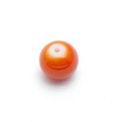 Glaskraal, rond, oranje, 10 mm (20 st.)