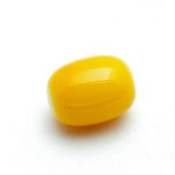 Glaskraal, ovaal, geel 16 mm (10 st.)