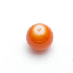 Glaskraal, rond, oranje, 12 mm (15 st.)