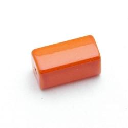 Glaskraal, rechthoek, oranje, 16 x 8 mm (10 st.)