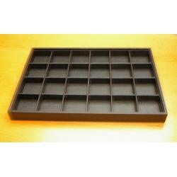Vakjesdisplay, open, 24 vakjes, PU leer, zwart (1 st.)
