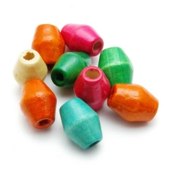 Houten kraal, Mix, 16 mm (14 gram)