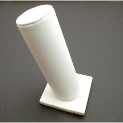 Armband standaard, schuin, PU leer, wit, 1 rol, staand, 17 cm (1 st.)