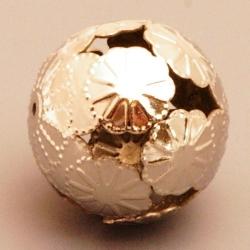 Filligrain, Metalen kraal, rond, zilver, 20 mm (1 st.)