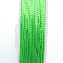 Rijg-/knoopdraad, limegroen, 0,6 mm, 45 meter (1 st.)