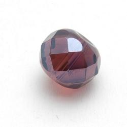 Glas, kraal, rond, afgeplat, facetten, amethyst, 12 mm (5 st.)