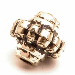 Metallook kraal, rond, 14 mm (10 st.)