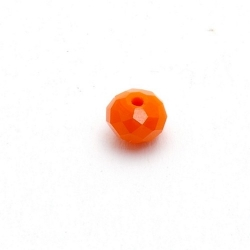 Facetkraal donut 8x6mm (oranje)