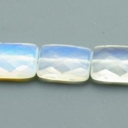 Maansteen kraal langwerpig facetten 15x20mm (5 st.)