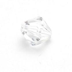 Kunststof kraal bicone facet transparant 14 mm (25 st.)
