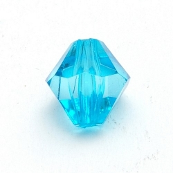 Kunststof kraal bicone facet turquoise 12 mm (25 st.)