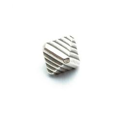 Metallook kraal, hoekig, 12 mm, (15 st.)