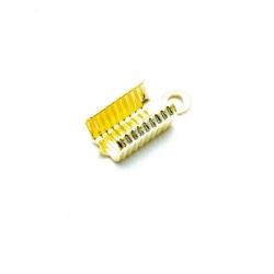 Veterklem, goud, 12 x 6 mm (25 st.)
