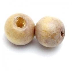Houten kraal, rond, naturel, 10 mm (20 st.)