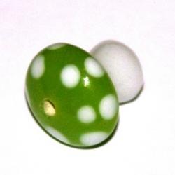 Glaskraal, paddestoel, limegroen, 16 mm (3 st.)