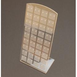 Oorbeldisplay, plexi, transparant/frost (1 st.)