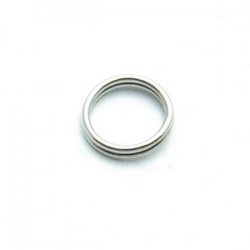 Ring split zilver 8 mm (10 gram)