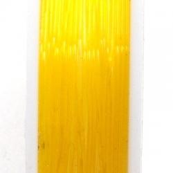 Elastiek rijgdraad 1.0mm oranje (10 meter)