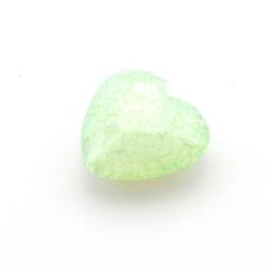 Kunststof kraal hart facet groen 22 mm (6 st.)