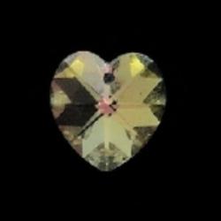 Preciosa, hanger, hart, crystal AB, 10,3 x 10 mm (1 st.)