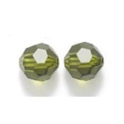 Preciosa rond, Olivine, 8 mm (1 st.)