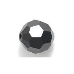 Preciosa rond, Jet AB, 4 mm (1 st.)