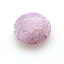 Kunststof kraal rond plat paars 30 mm (5 st.)