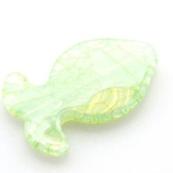 Kunststof kraal vis groen 47 mm (5 st.)