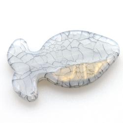 Kunststof kraal vis grijs 47 mm (5 st.)