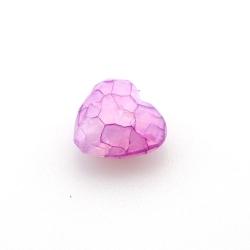 Kunststof kraal hart facet fuchsia 18 mm (10 st.)