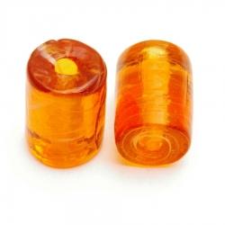 Glaskraal, cylinder, bruin, 15 x 10 mm (5 st.)