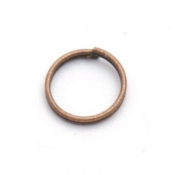 Ring split antique goud 6 mm (10 gram)