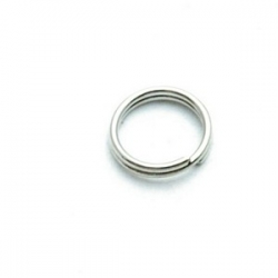 Ring split antique zilver 8 mm (10 gram)