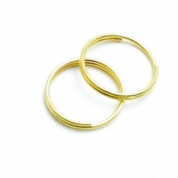 Ring split goud 12 mm (10 gram)