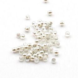 Knijpkralen, zilverkleurig, 2 mm (10 gr.)
