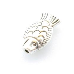 Metalen kraal, vis, zilver, 16 mm (10 st.)