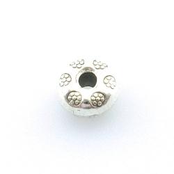 Metalen kraal, donut, bloemetje, 5 mm (10 st.)