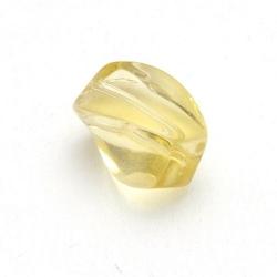 Glaskraal, rechthoek met 'twist', geel, 14 x 8 mm (10 st.)